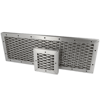 EMC-kudottu verkko ilmanvaihtopaneeli