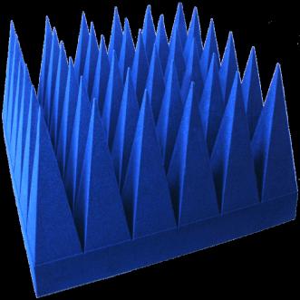Laajakaistaiset hybridi-pyramidaaliset absorboijat