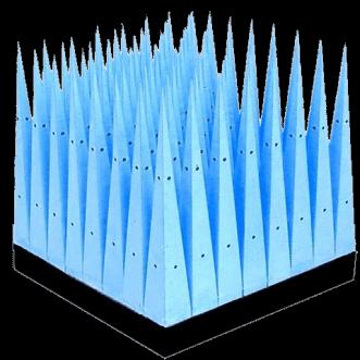 Suuritehoiset mikrohuokoiset pyramidinvaimentimet